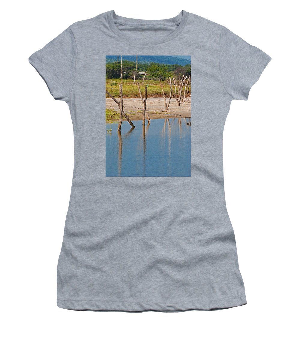 Wather Women's T-Shirt featuring the photograph Wood Walk by Galeria Trompiz