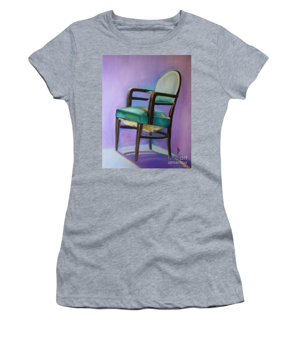 Still Life Women's T-Shirt featuring the painting Ye Who Are Weary by Marlene Book