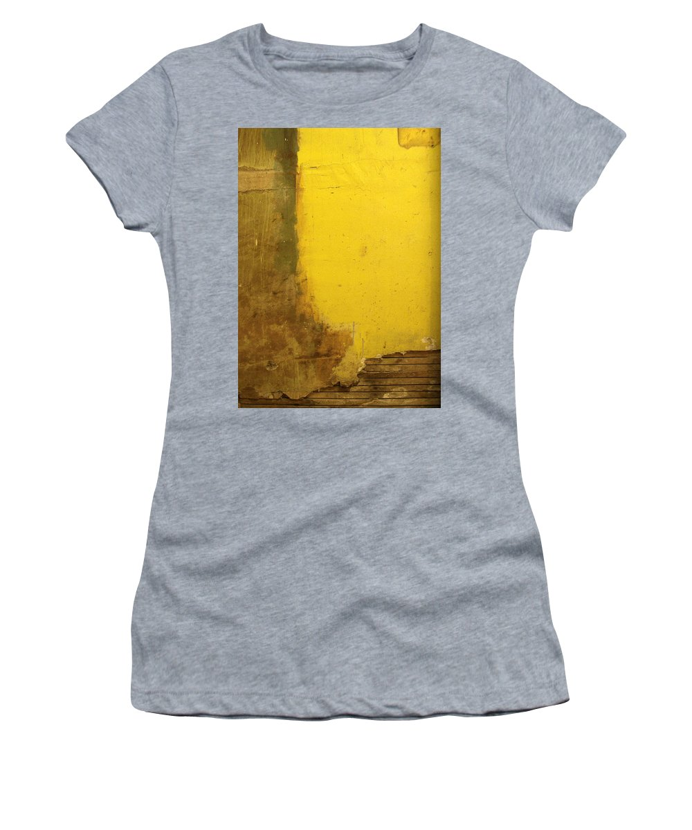 Yellow Women's T-Shirt featuring the photograph Yellow Wall by Tim Nyberg