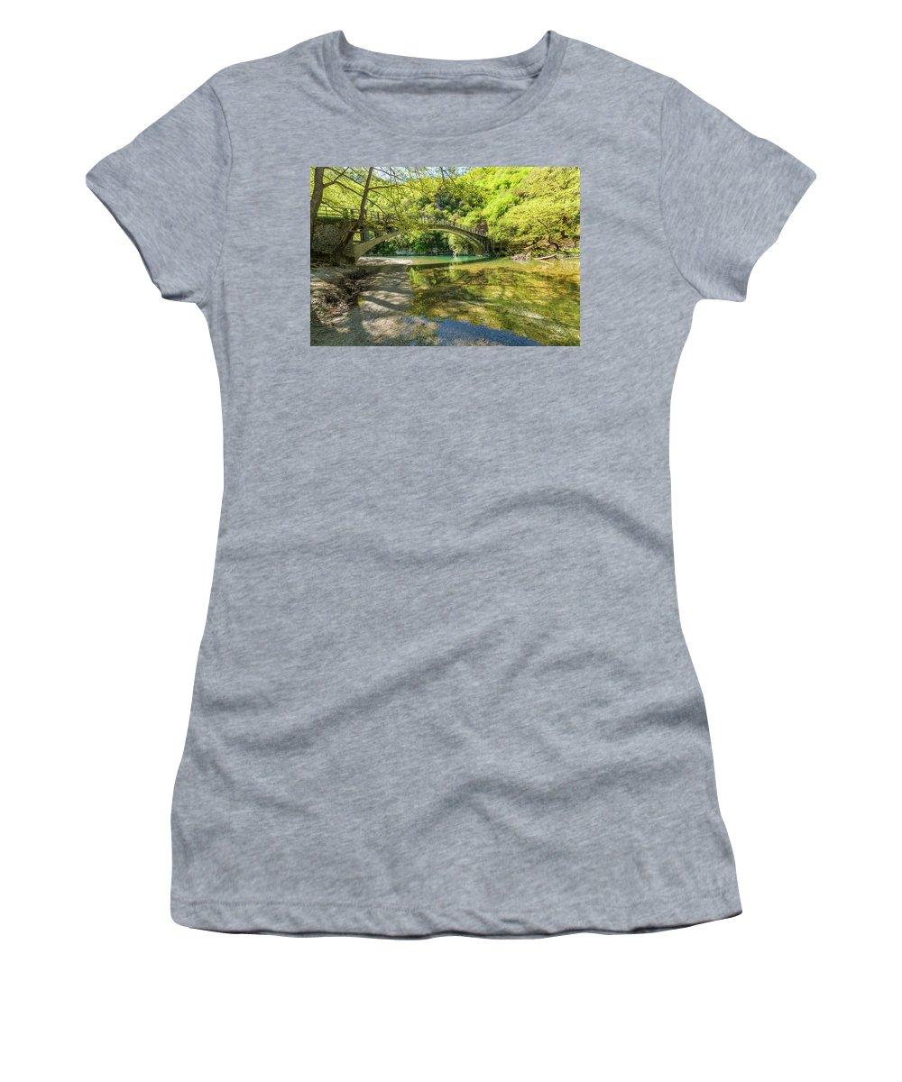 Europe Women's T-Shirt featuring the digital art Zagora Bridge by Tsafreer Bernstein
