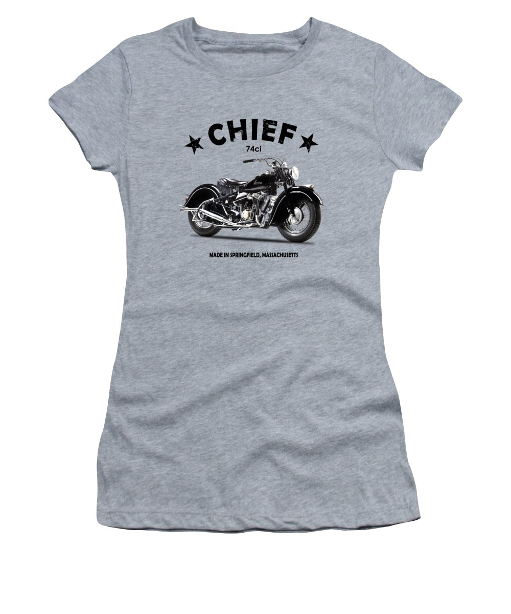 Indian Chief 1947 Women's T-Shirt featuring the photograph The 1947 Chief by Mark Rogan