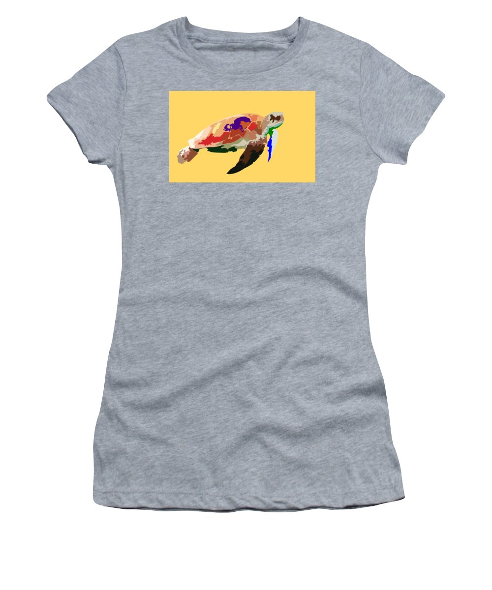 Turtle Women's T-Shirt featuring the digital art Awesome Turtle by Nnanna Charles Mba