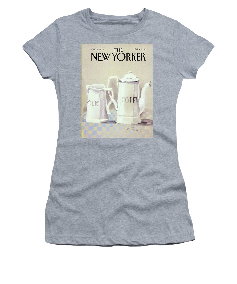Illustration Women's T-Shirt featuring the painting Cafe au Lait by Andre Francois