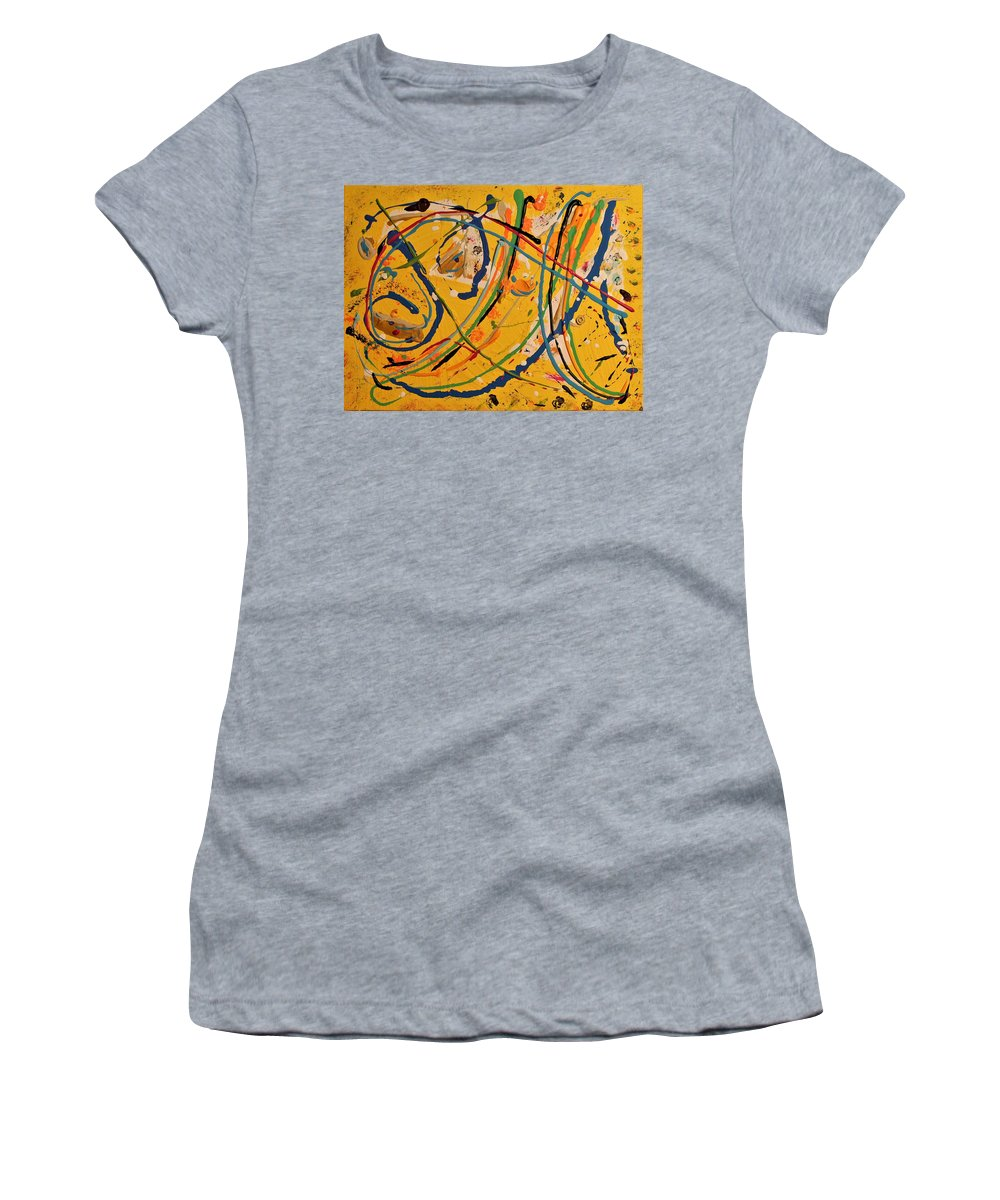 Colorado Women's T-Shirt featuring the painting Gone Fishing by Pam Roth O'Mara