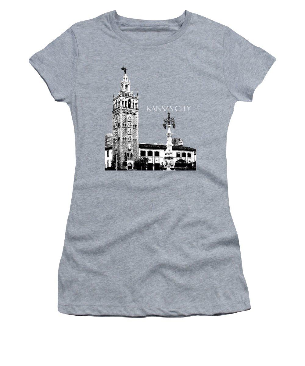 Architecture Women's T-Shirt featuring the digital art Kansas City Skyline 2 - Dark Orange by DB Artist