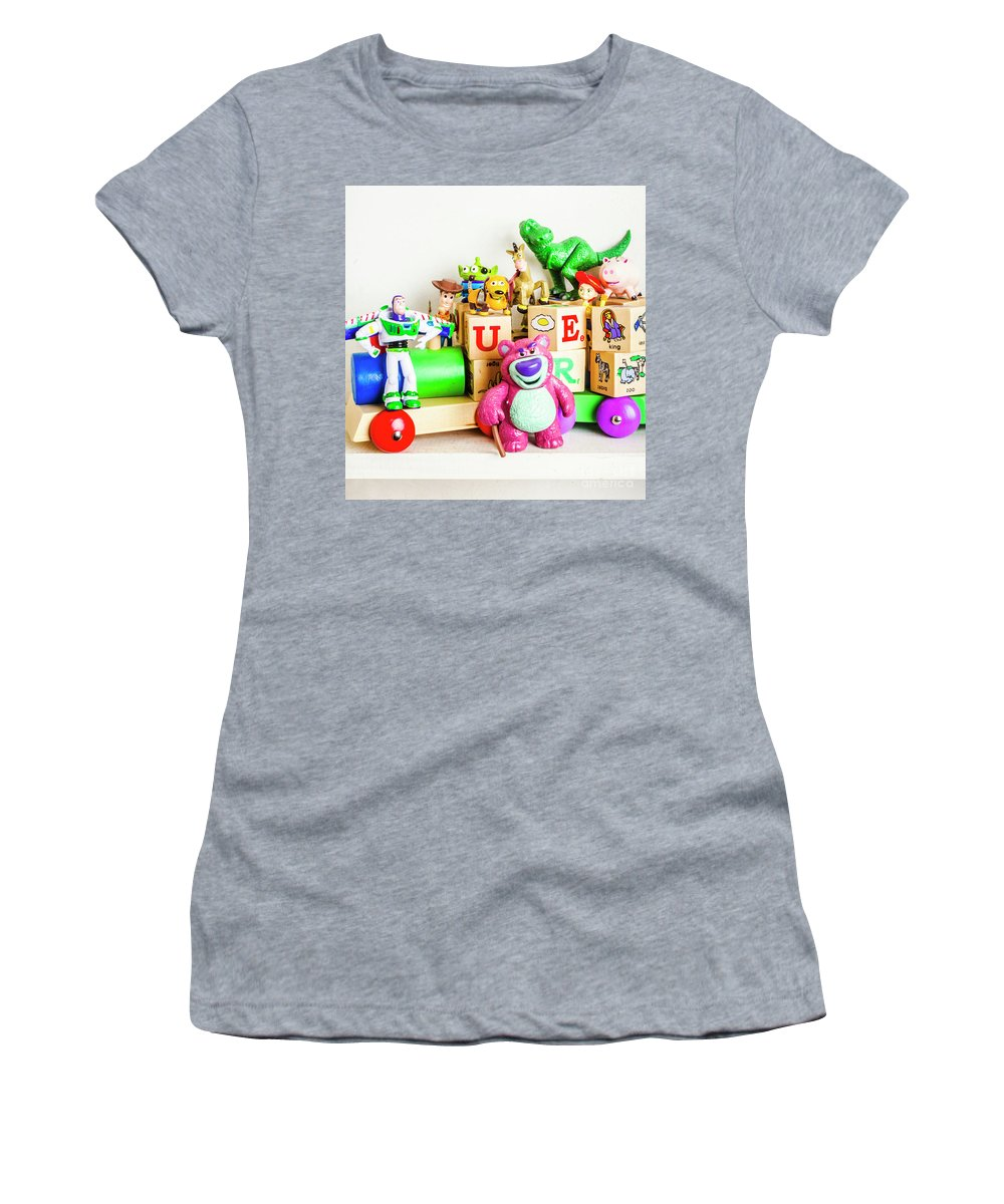 Story Women's T-Shirt featuring the photograph Playtime Story by Jorgo Photography - Wall Art Gallery