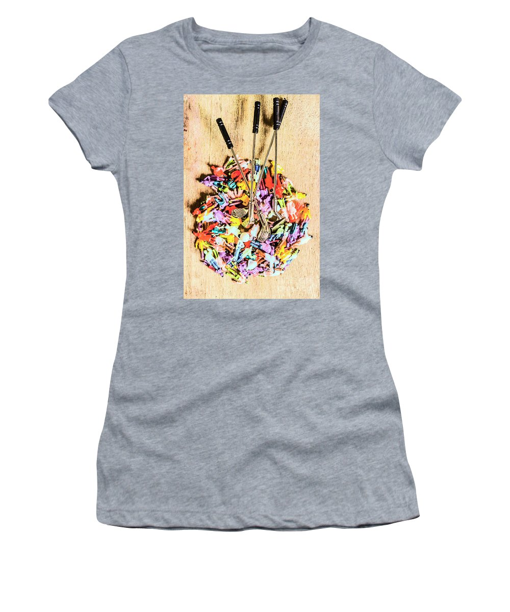 Golfers Women's T-Shirt featuring the photograph Round Of Golf by Jorgo Photography - Wall Art Gallery
