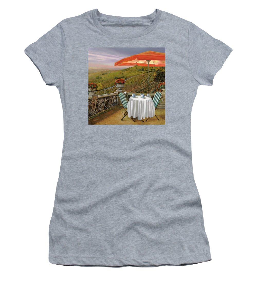 Caffe Paintings Women's T-Shirts