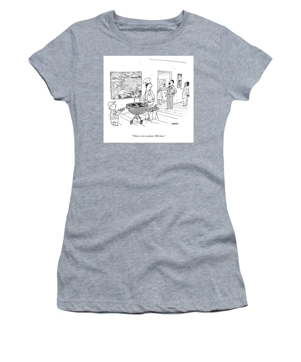 Cctk Women's T-Shirt featuring the drawing A Rare Medium by Tim Hamilton