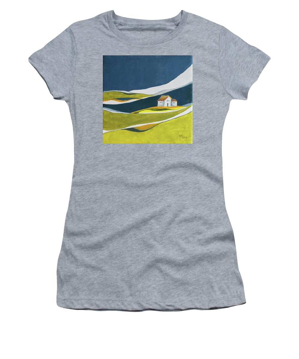 Home Women's T-Shirt featuring the painting Almost home by Aniko Hencz