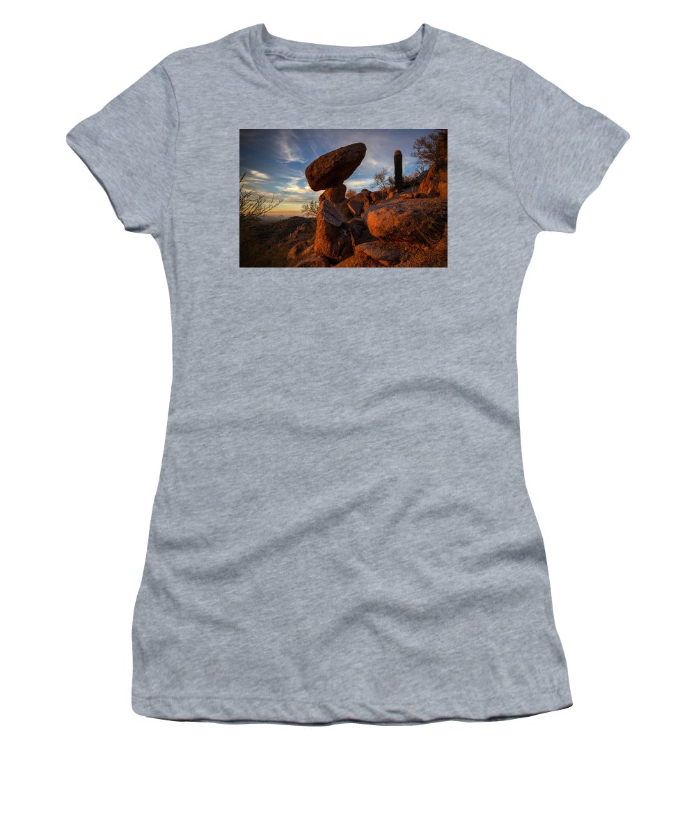 Photography Women's T-Shirt featuring the photograph Ancient Ones by Kati Astraeir