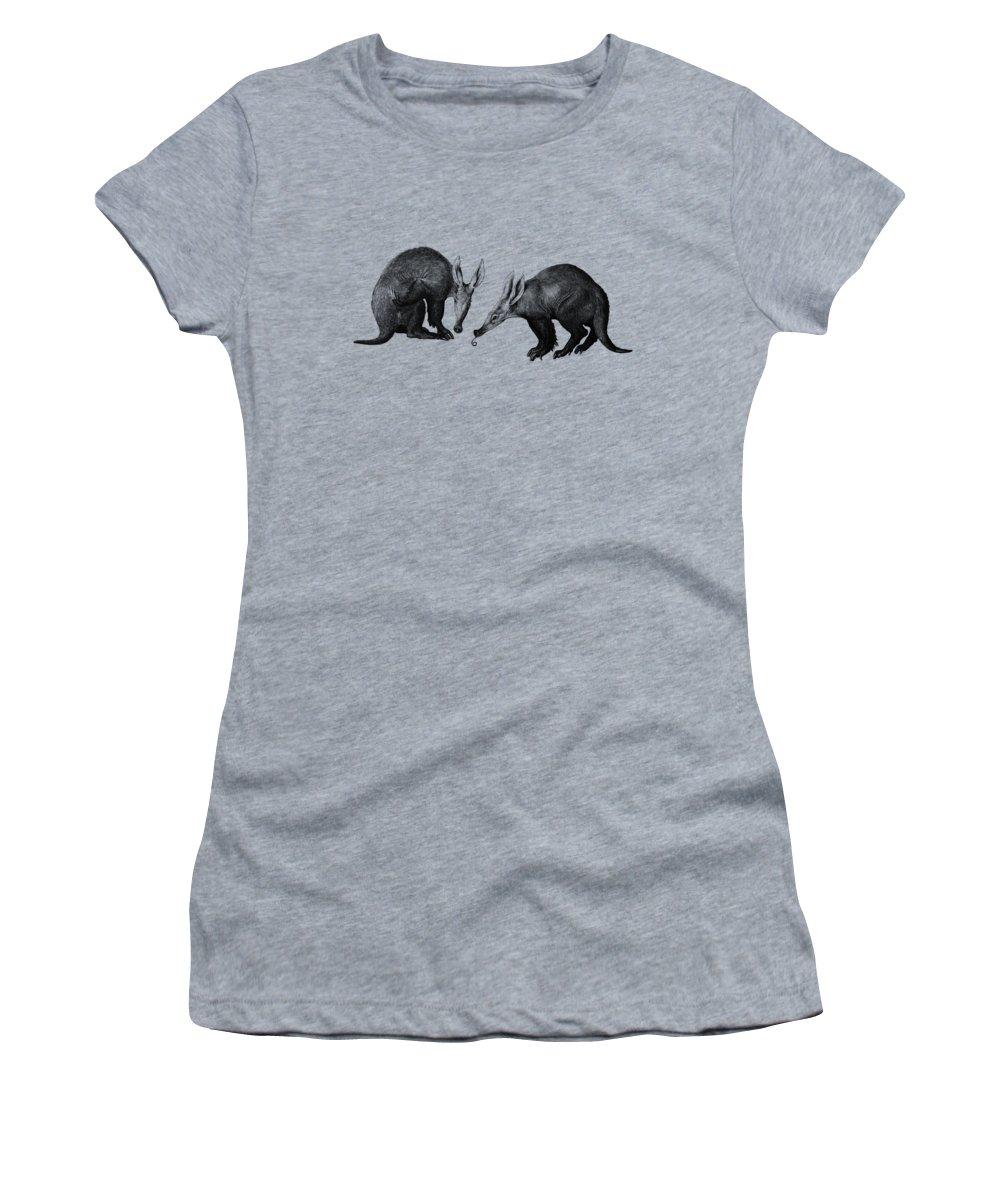 Aardvark Women's T-Shirt featuring the digital art Ant Bears by Madame Memento