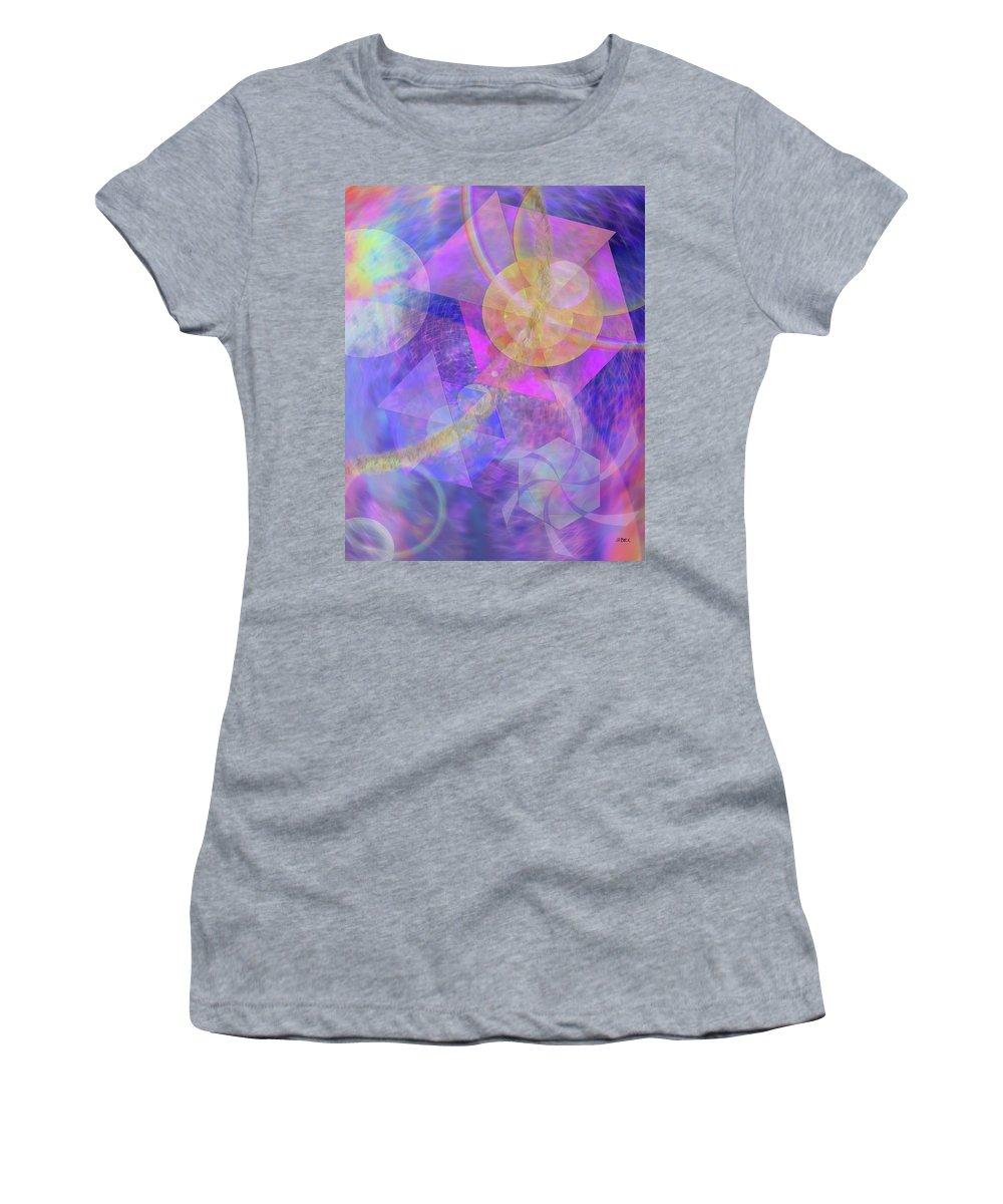 Blue Expectations Women's T-Shirt featuring the digital art Blue Expectations by John Robert Beck