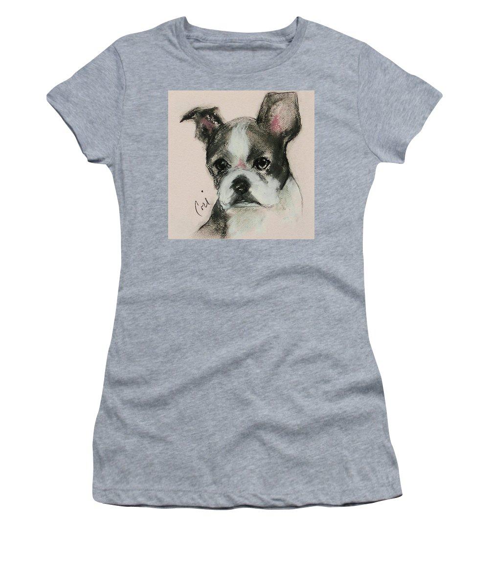 Pastel Women's T-Shirt featuring the drawing Bostonian by Cori Solomon