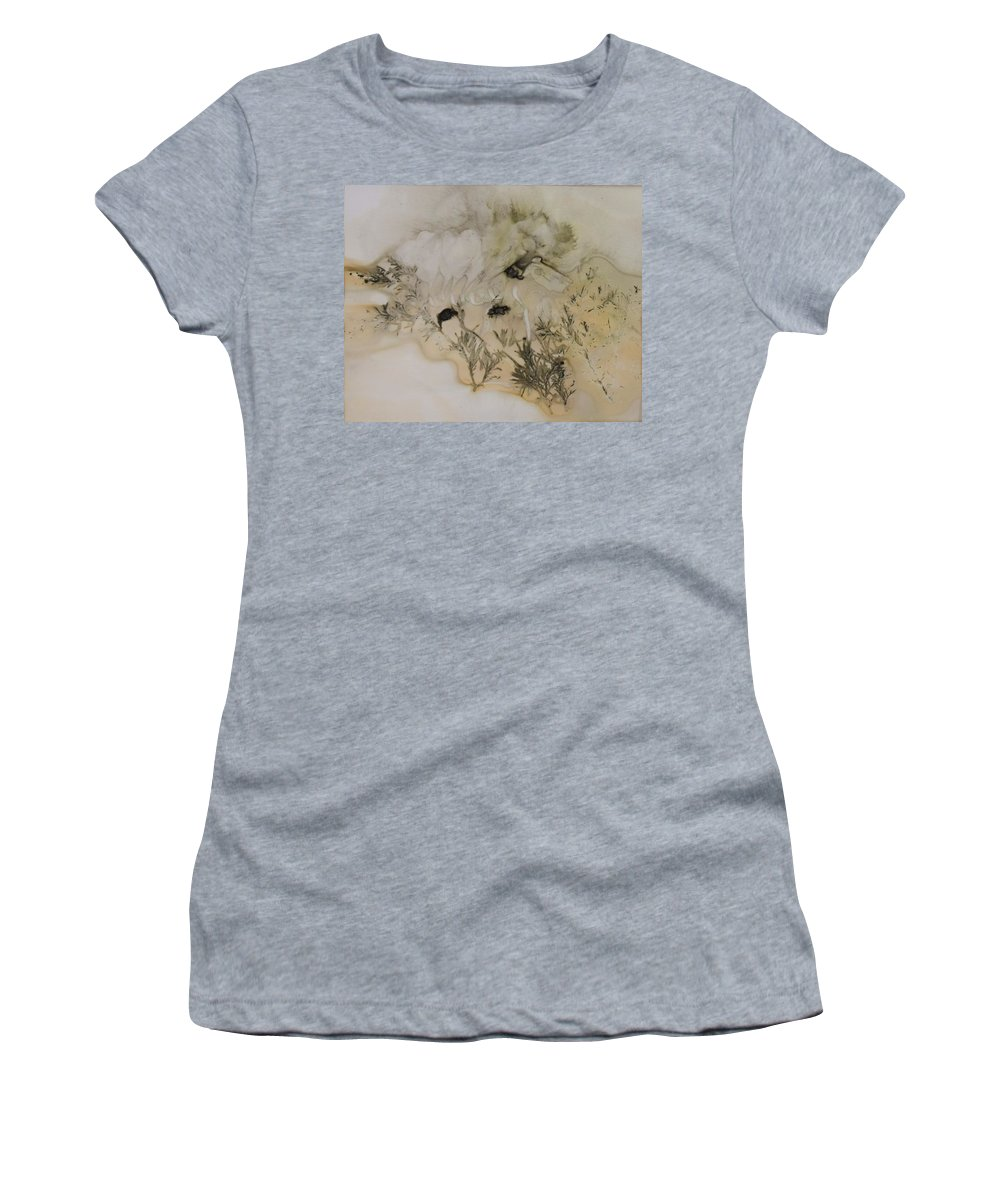 Nature Women's T-Shirt featuring the mixed media Eco print 5 by Charla Van Vlack
