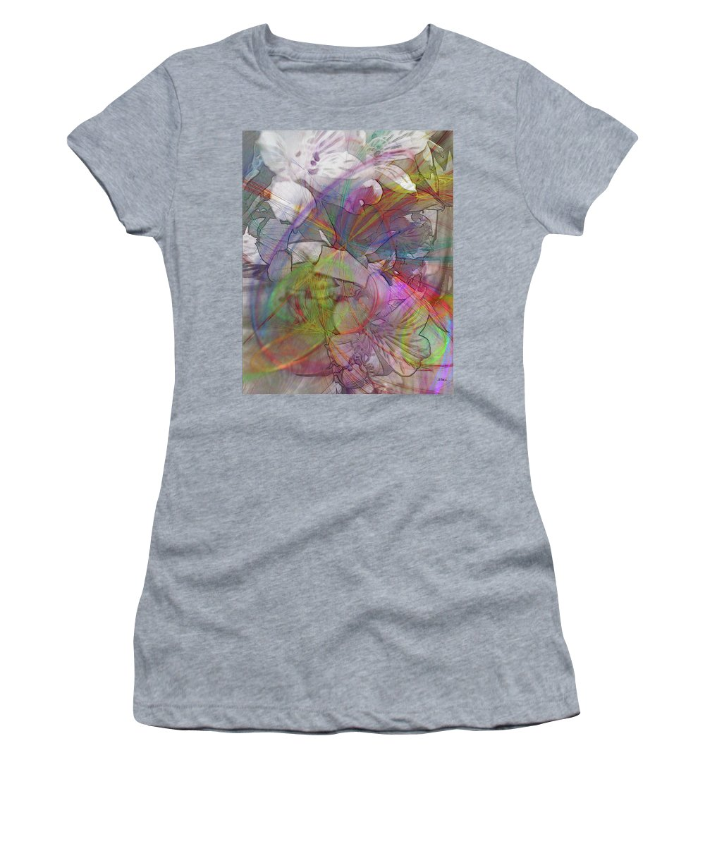 Floral Fantasy Women's T-Shirt featuring the digital art Floral Fantasy by John Robert Beck