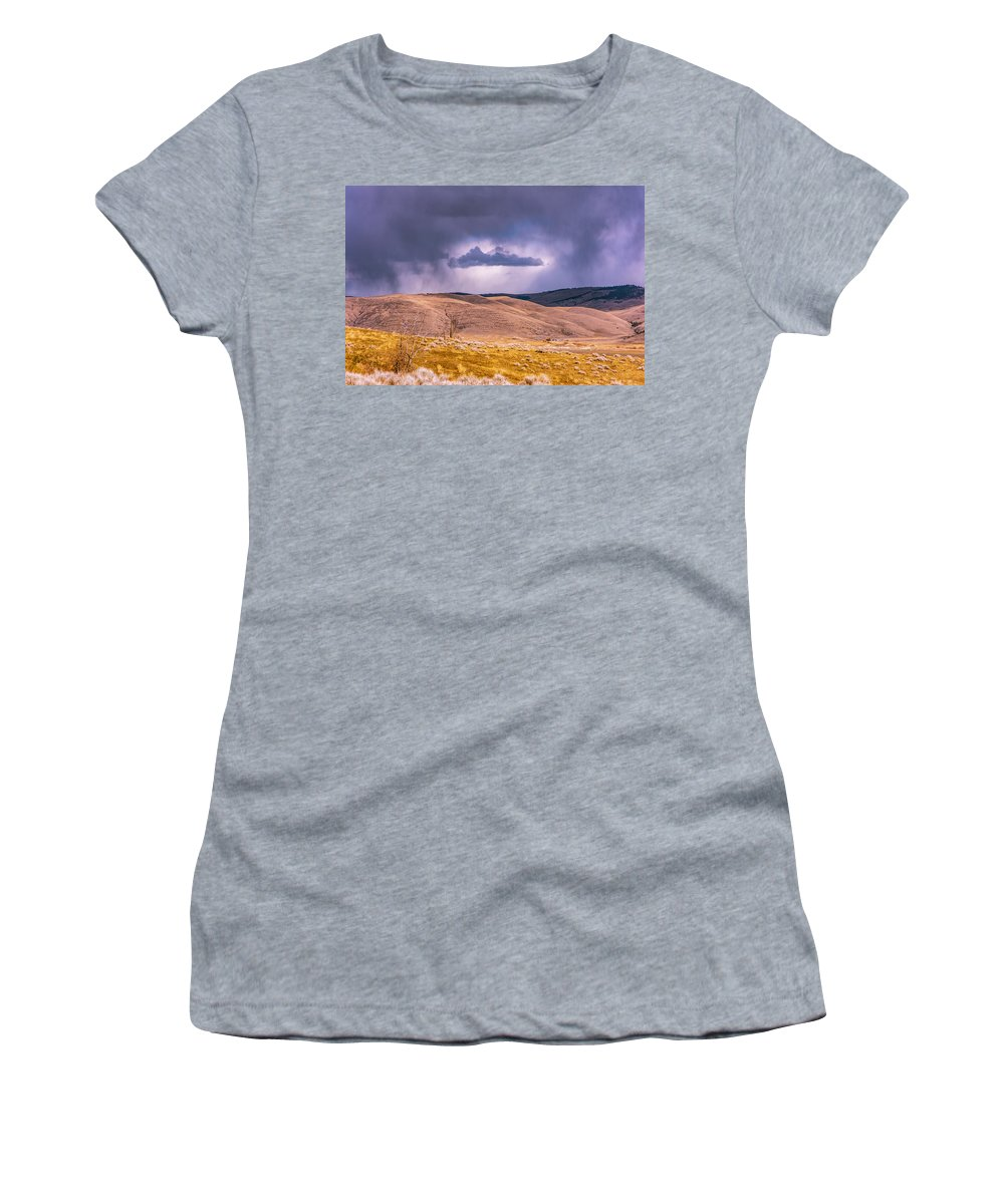 Little Bitterroot Valley Women's T-Shirt featuring the photograph Is That Cloud Holy? by Bryan Spellman