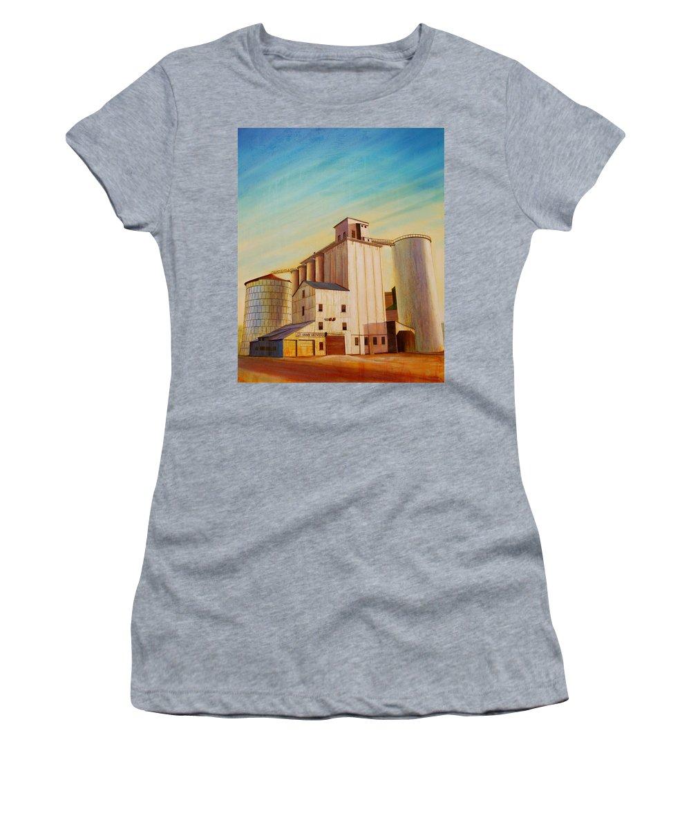 Grain Women's T-Shirt featuring the painting Latah County Grain Growers by Leonard Heid