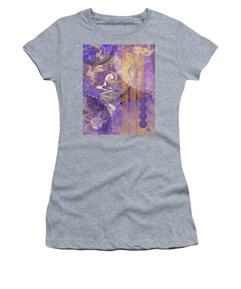Lunar Impressions Women's T-Shirt featuring the digital art Lunar Impressions by John Robert Beck