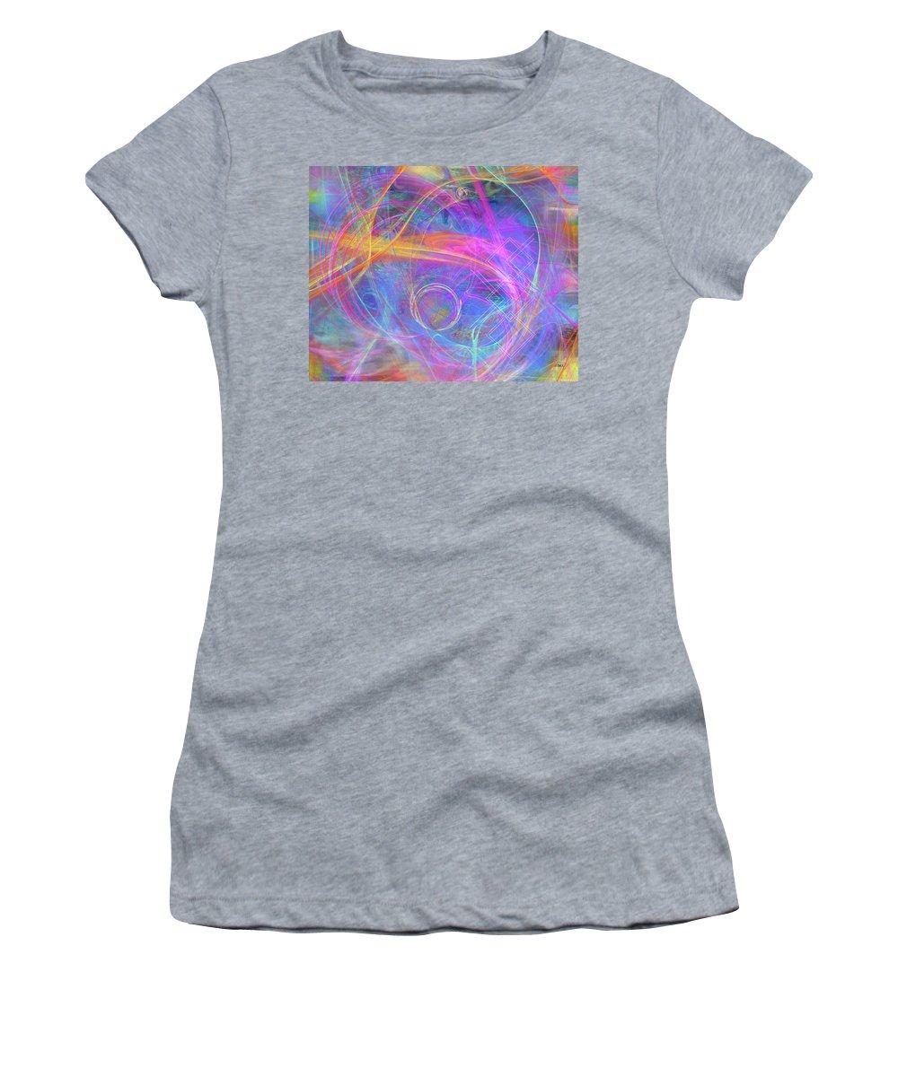 Mystic Beginning Women's T-Shirt featuring the digital art Mystic Beginning by John Robert Beck