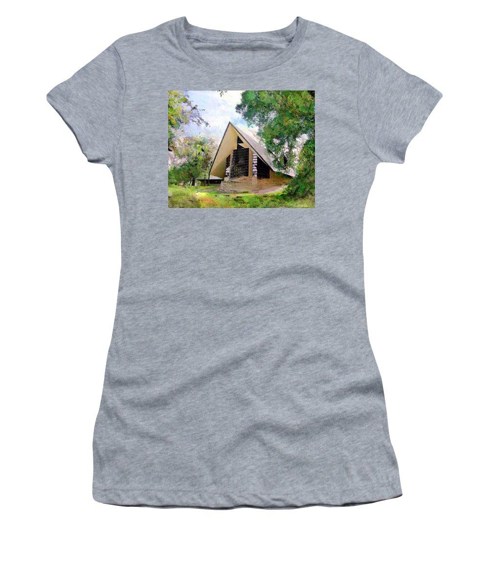 Praying Hands Women's T-Shirt featuring the digital art Praying Hands by John Robert Beck