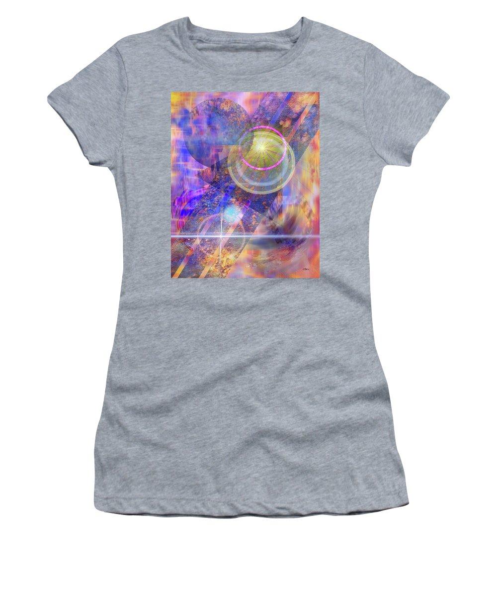 Solar Progression Women's T-Shirt featuring the digital art Solar Progression by Studio B Prints