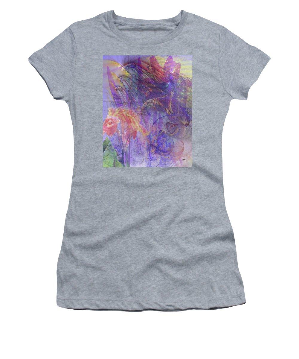 Summer Awakes Women's T-Shirt featuring the digital art Summer Awakes by John Robert Beck