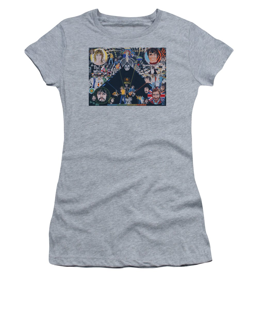 Montage Women's T-Shirt featuring the drawing The Who - Quadrophenia by Sean Connolly