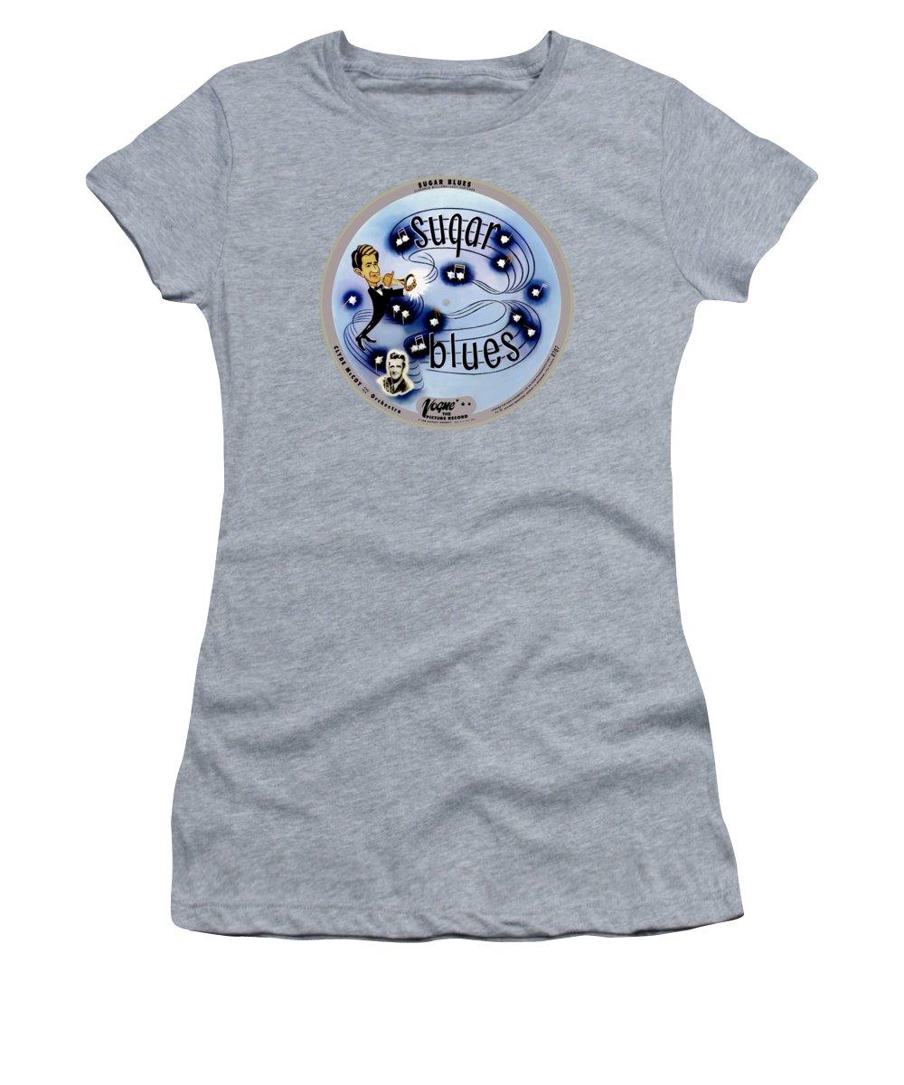 Vogue Record Art - R 707 - P 5 Women's T-Shirt featuring the digital art Vogue Record Art - R 707 - P 5, Black Logo - Square Version by John Robert Beck