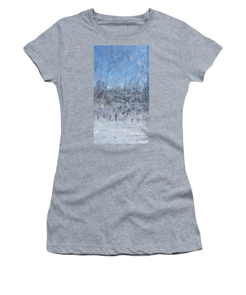 Winter Women's T-Shirt featuring the photograph Winter Frost by Trevor Slauenwhite