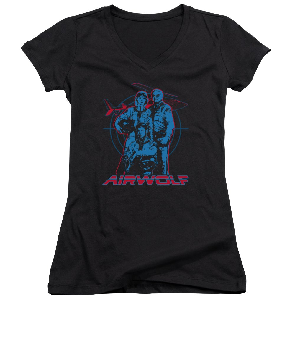 Helicopter Women's V-Neck T-Shirts