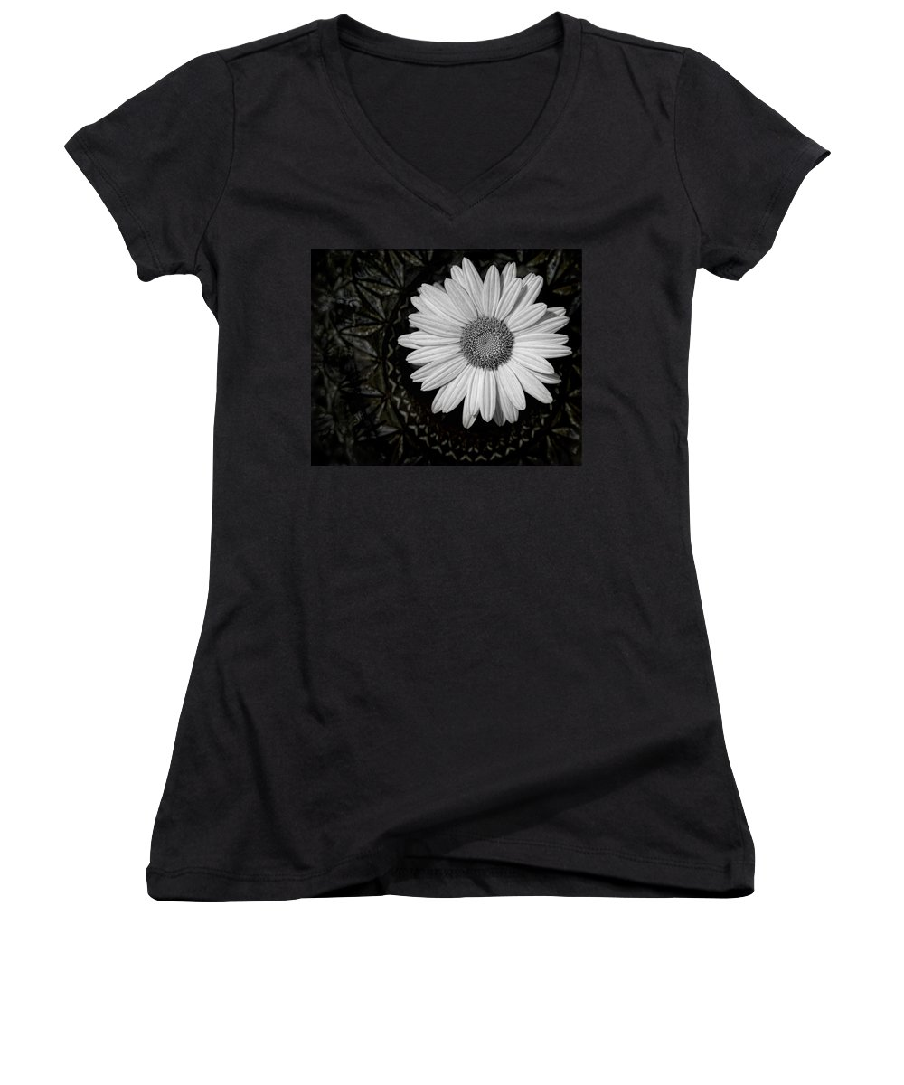 Daisy Women's V-Neck (Athletic Fit) featuring the photograph Fresh Cut by Kristi Swift