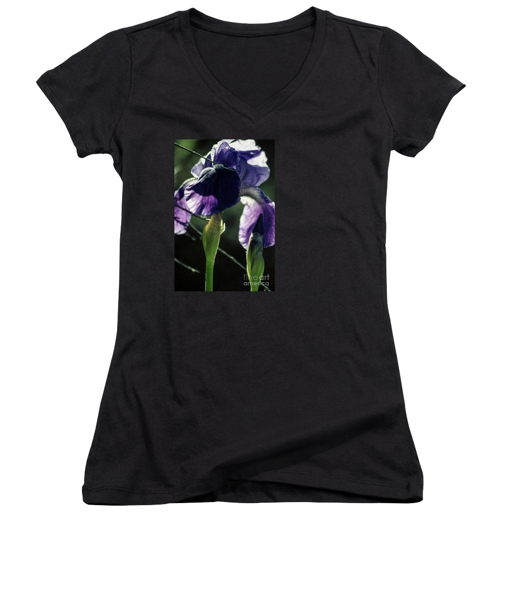 Flowers Women's V-Neck T-Shirt featuring the photograph Spring's Gift by Kathy McClure