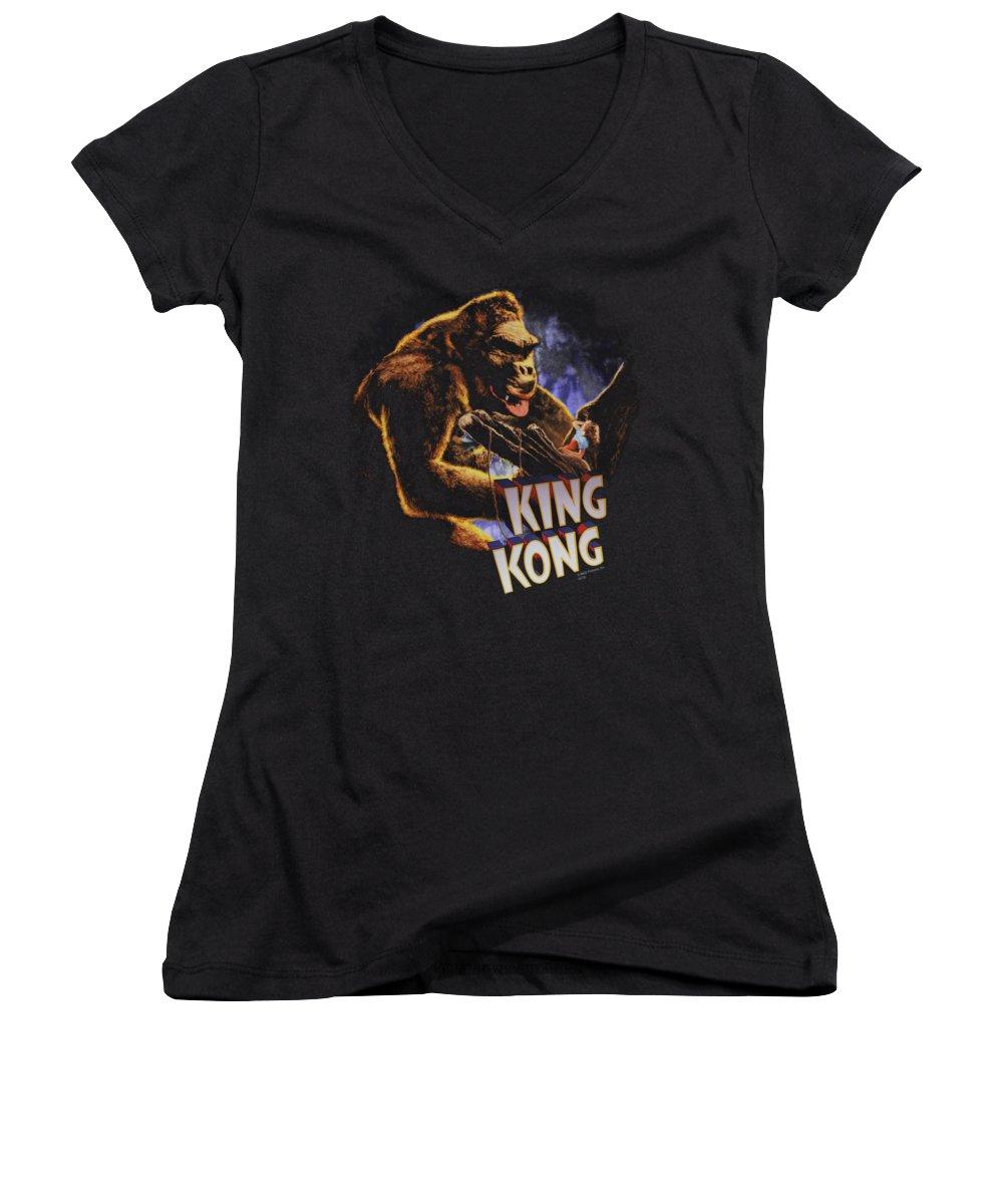 Empire State Building Junior V-Neck T-Shirts