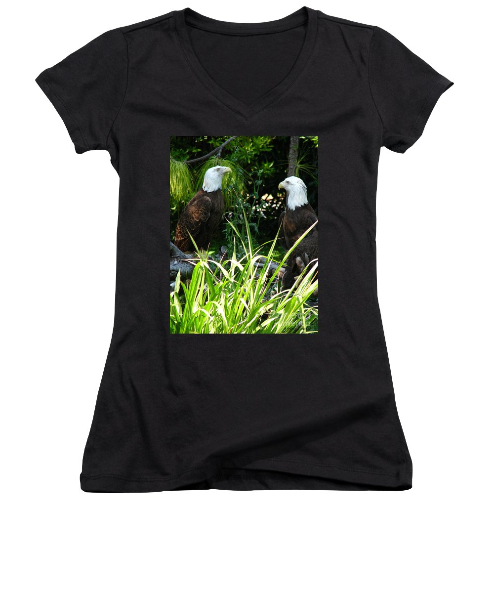 Patzer Women's V-Neck (Athletic Fit) featuring the photograph Mates by Greg Patzer