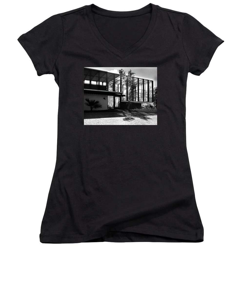 Home Women's V-Neck featuring the photograph Michael Heller's Home In Miami by Rudi Rada