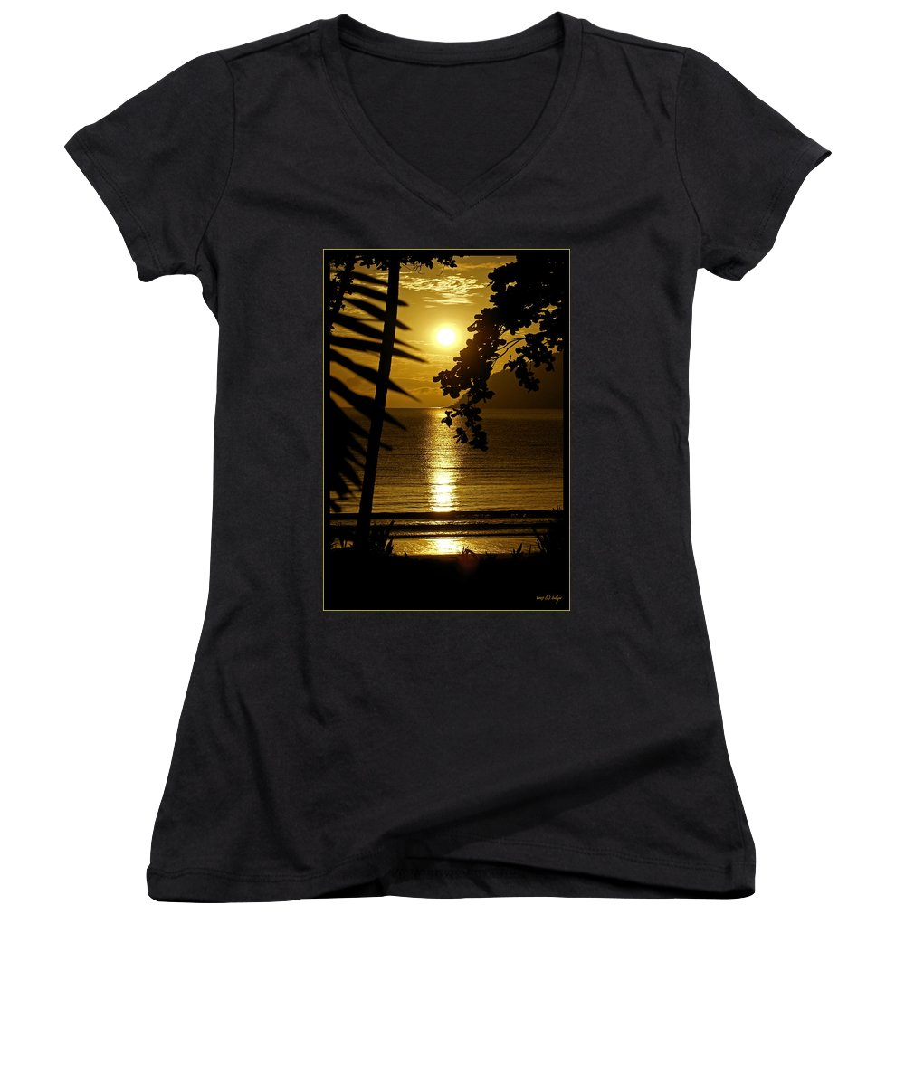 Landscapes Women's V-Neck (Athletic Fit) featuring the photograph Shimmer by Holly Kempe