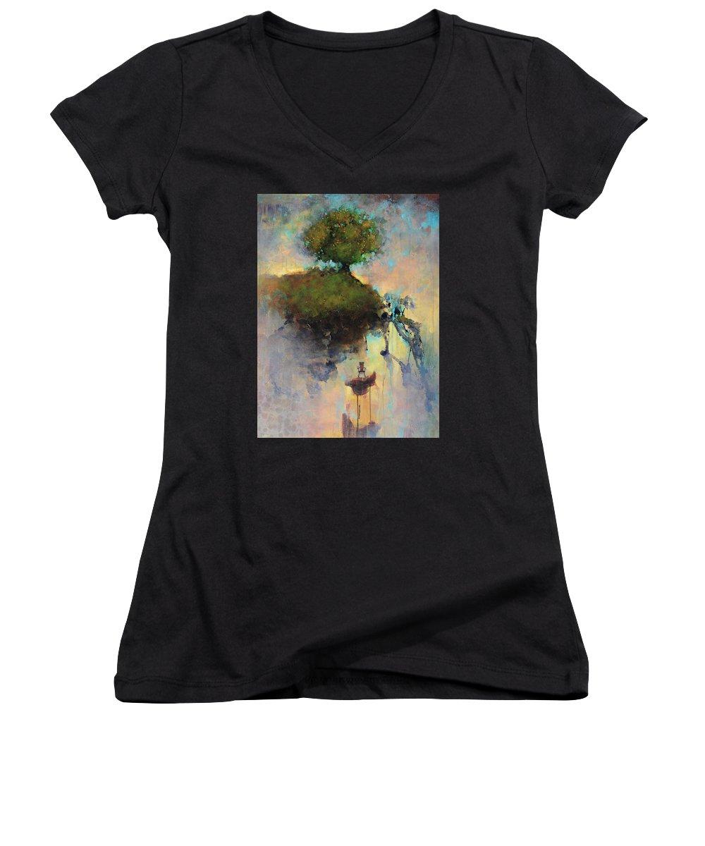 Louvre Women's V-Neck T-Shirts