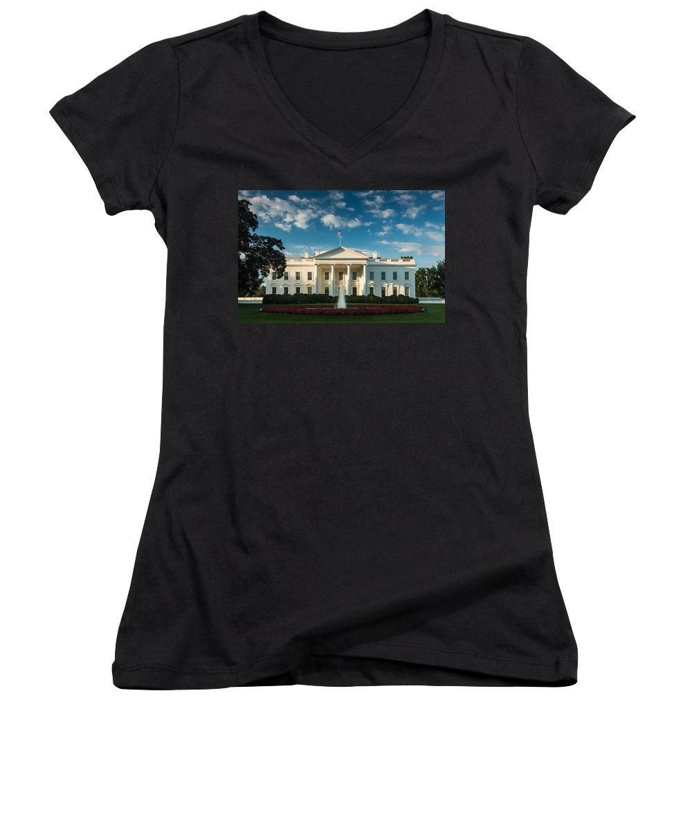 Whitehouse Women's V-Neck T-Shirts