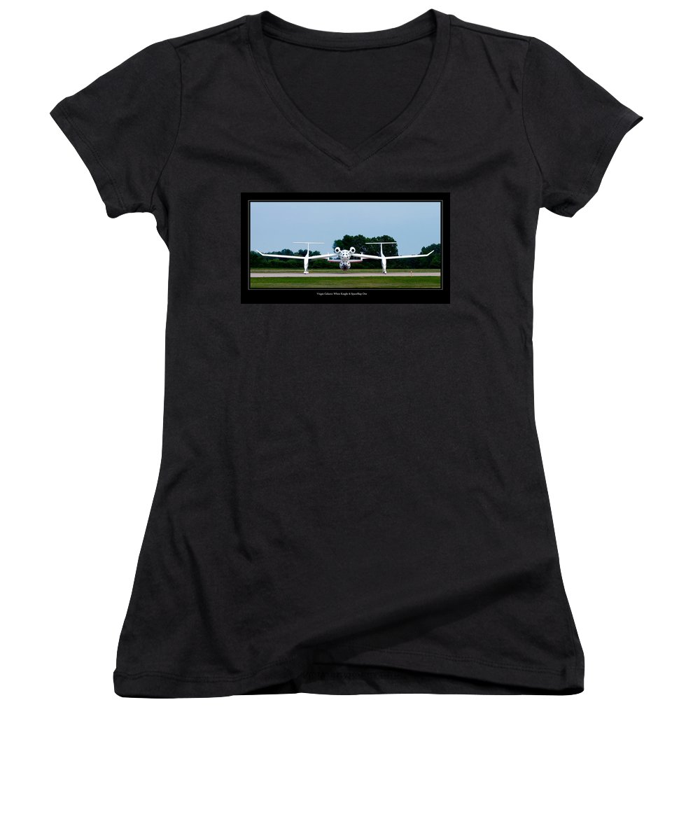 3scape Photos Women's V-Neck T-Shirt featuring the photograph White Knight by Adam Romanowicz