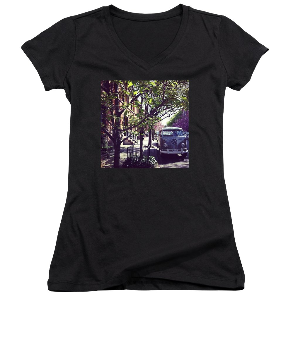 Van Women's V-Neck featuring the photograph Neato by Katie Cupcakes