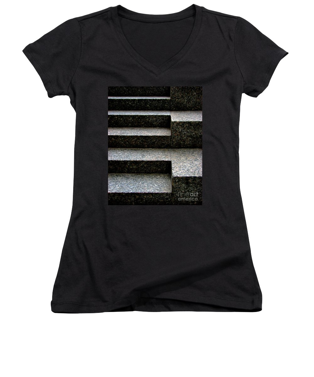 Architectural Women's V-Neck (Athletic Fit) featuring the photograph Gradation by Dana DiPasquale