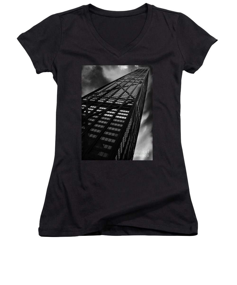 City Women's V-Neck T-Shirt featuring the photograph Limitless by Dana DiPasquale