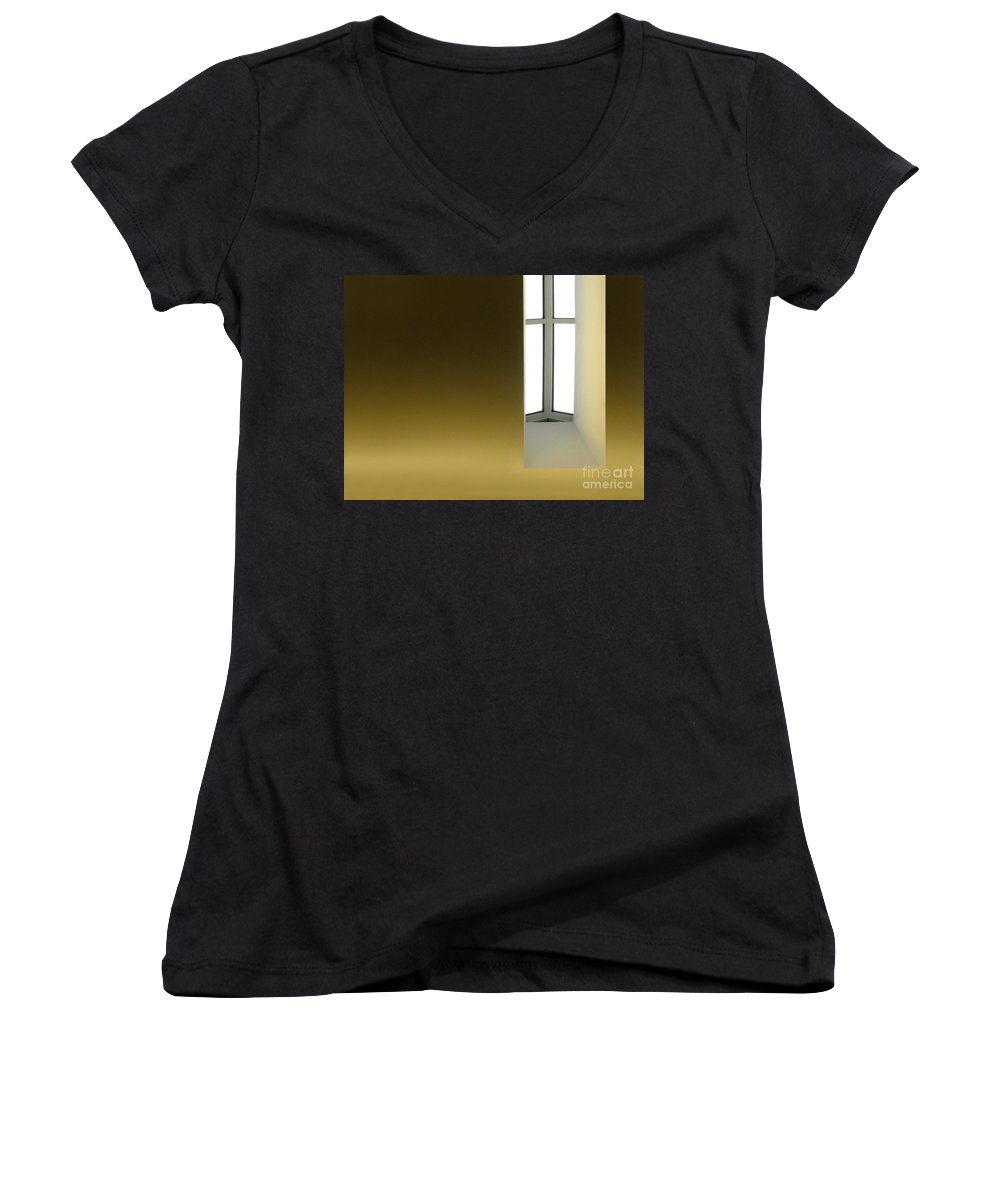 Architecture Women's V-Neck T-Shirt featuring the photograph Above Series 2.0 by Dana DiPasquale