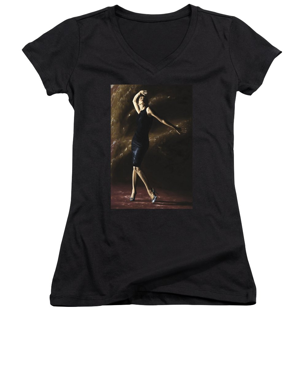 Dance Women's V-Neck (Athletic Fit) featuring the painting After The Dance by Richard Young