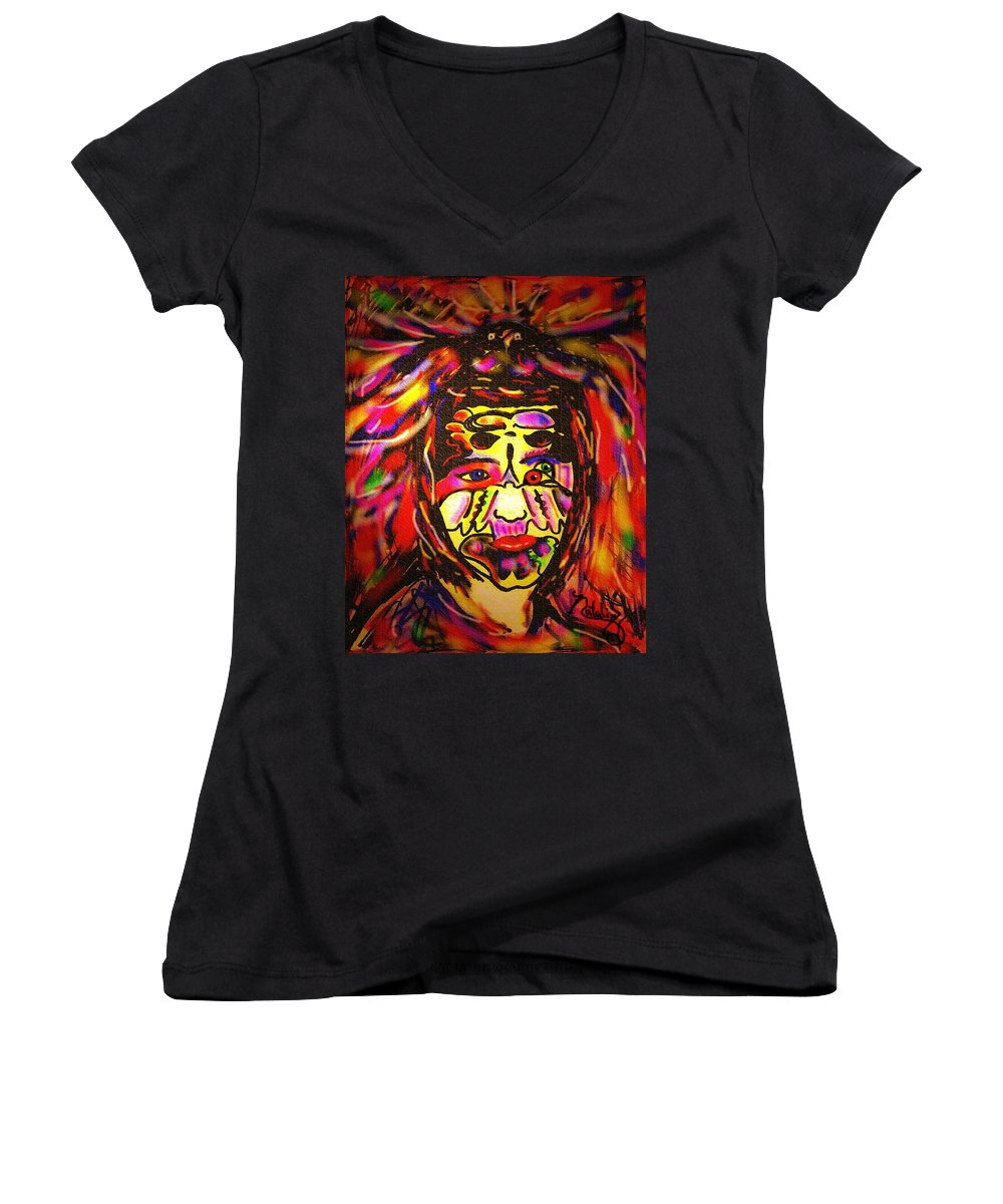 Man Women's V-Neck T-Shirt featuring the painting All Seeing Eye by Natalie Holland