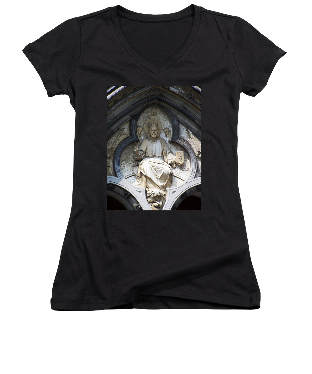 Ireland Women's V-Neck (Athletic Fit) featuring the photograph Alpha And Omega by Teresa Mucha