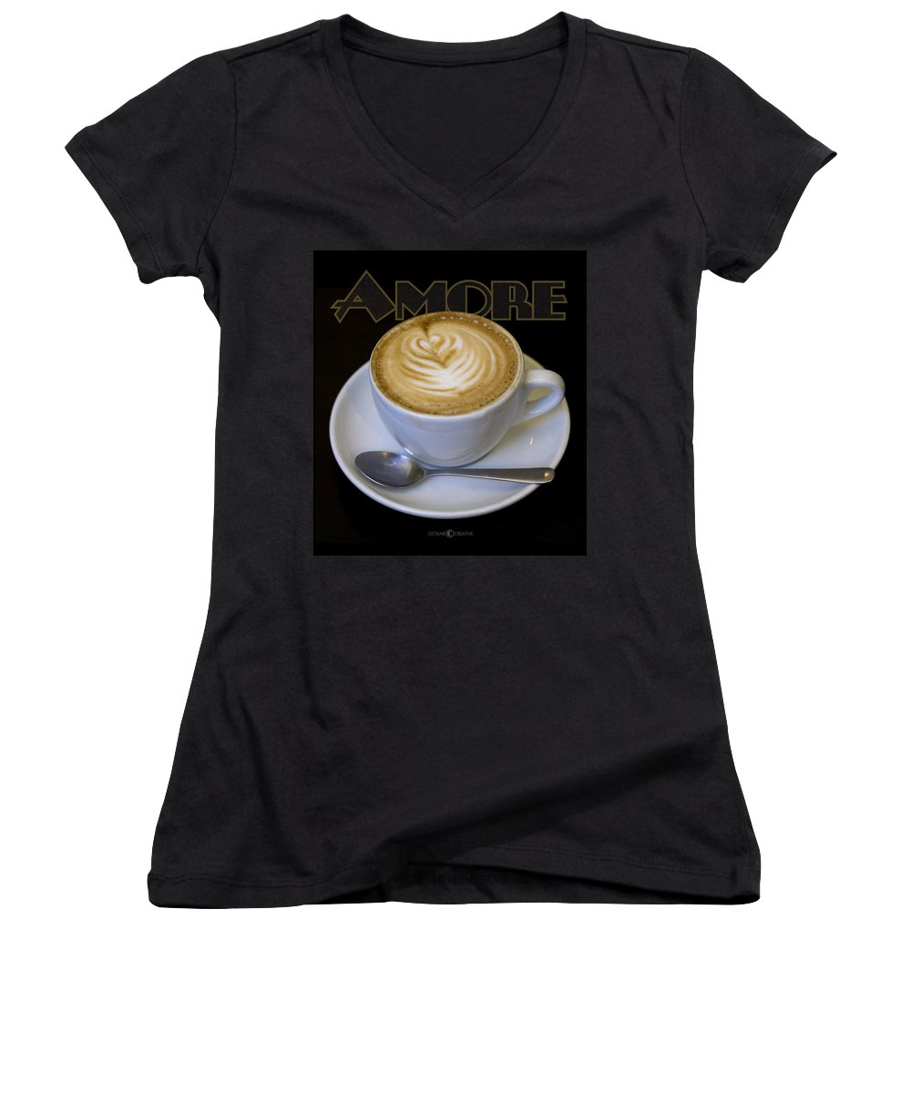 Coffee Women's V-Neck (Athletic Fit) featuring the photograph Amore Poster by Tim Nyberg