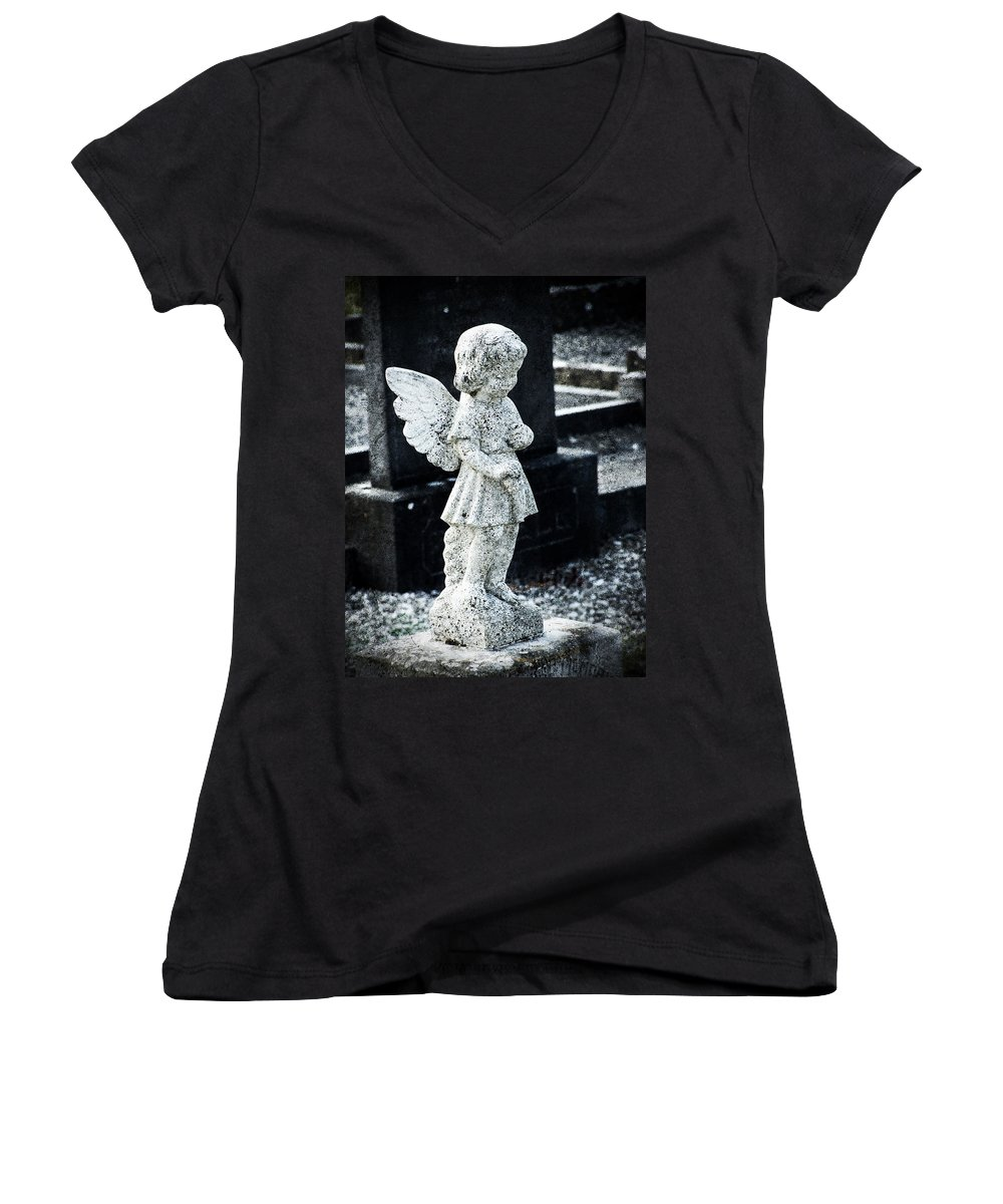Ireland Women's V-Neck (Athletic Fit) featuring the photograph Angel In Roscommon No 3 by Teresa Mucha