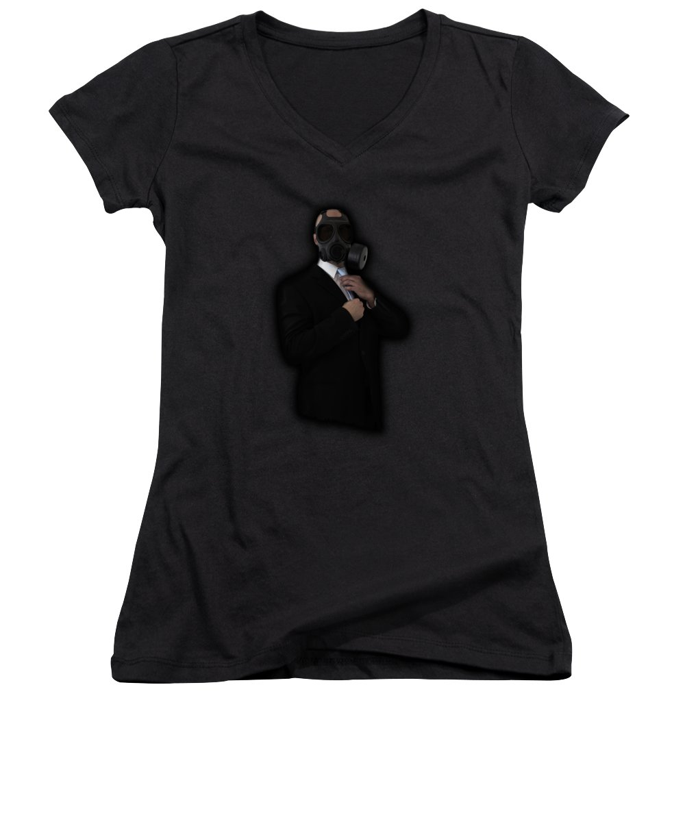 Business Women's V-Neck featuring the photograph Apocalyptic Style by Nicklas Gustafsson